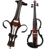 Ammoon 4//4/tama/ño completo ac/ústica Natural EQ Violin Fiddle cara de abeto madera maciza con 6,35/mm 1//4/conector alambre hombro resto colofonia arco cadena pa/ño de limpieza duro caso