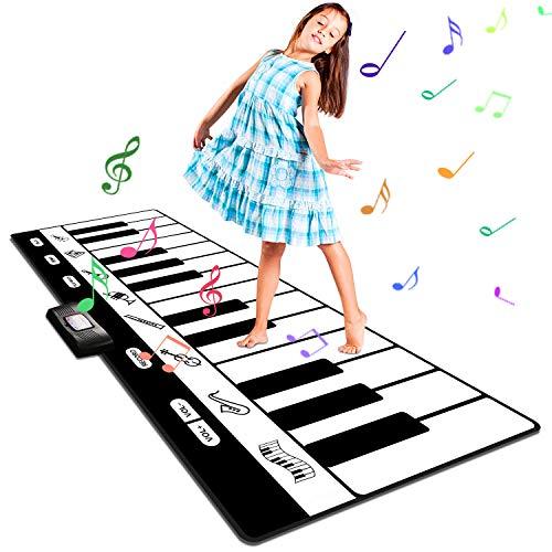 Alfombra Musical,Alfombra Piano de Suelo Musical Canto Alfombrilla Musical Estera de Baile Tapete para Niños