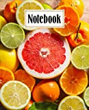 Notebook: Citrus Fruits Composition Notebook College Ruled, Writer's Notebook for Schools, 120 Pages - Large 7.5' x 9.25' Design by Simon Meier
