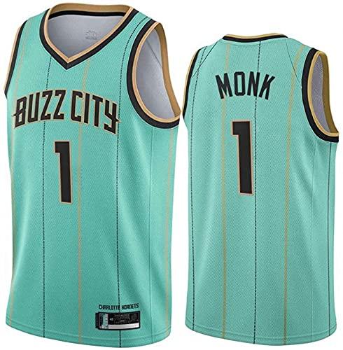 jiaju Ropa Baloncesto Masculino NBA Jersey Hornets 1# Monk City Edition Nuevo 2021 Transpirable Secado rápido Vestima sin Mangas Top para Deportes, Green, S (Color : Green, Size : XL)