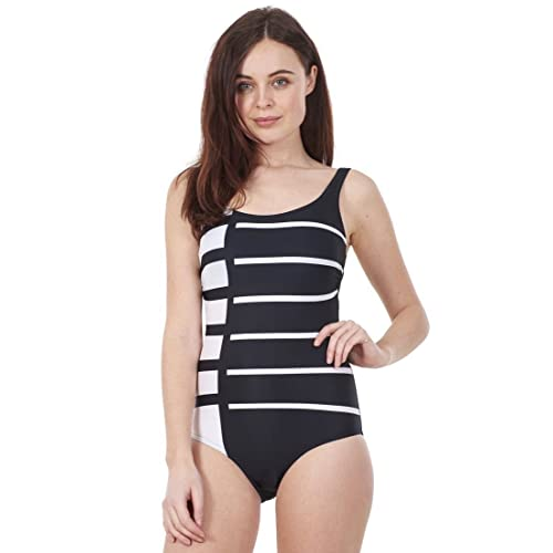 Ex Famous Store Ladies One Piece Swimsuit Bathing Stretch Chlorine Resist  Lycra Padded Hidden Support