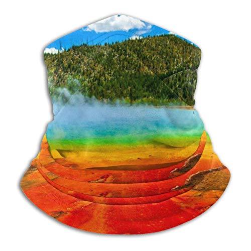 Lzz-Shop Mooie blauwe hemel en witte wolken halswarmer - hoofdband sjaal hoofdwikkeling, hals gamasche pijp vissen, gezicht sport sjaal