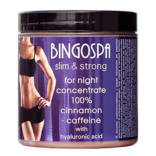 BINGOSPA Anti-Cellulite Abnehmen Zimt-Koffein-Konzentrat fur Nachtpflege, Straffung und Modellierung, Body Wraps - 250g