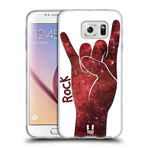 Head Case Designs Rock Nebulose Mani Cover in Morbido Gel e Sfondo di Design Abbinato Compatibile con Samsung Galaxy S6