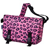 Wildkin Kids Messenger Bag for Boys and Girls, Perfect Size for Packing Items for School or Travel, 600 Denier Polyester Fabric, Messenger Bags Measures 15 X 10 Inches, BPA-free (Pink Leopard)