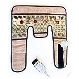 MiWell Masajeador de cuello y hombros con calor - Almohadilla de calentamiento natural para el alivio del dolor y el insomnio - Calentador de cuello con cojín infrarrojo