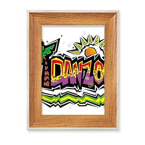 México Cultura Elment Rosa Danzon Eslogan Escritorio Marco de fotos de madera Mostrar cuadro Arte Pintura Múltiples Sets
