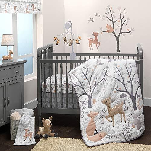 Bedtime Originals Deer Park 3-Piece Crib Bedding Set - Gray, Animals,...