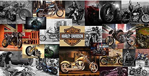 Große benutzerdefinierte Wandbild Tapete Tapete ktv Thema Hotel Internet Cafe Bar Club 3d drei d Wandmalerei Harley Motorradpaste Grenze Wirkung unter Schlafzimmer250cm×170cm