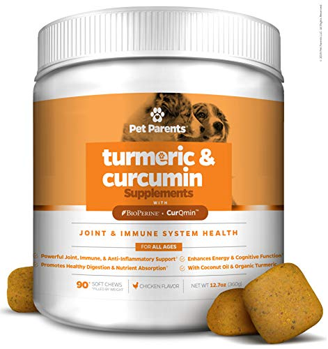 Pet Parents USA Turmeric for Dogs 4g 90c – K9 Joint  Dog Joint & Dog Immune Support  Joint Pain Relief for Dogs  Dog Arthritis Pain Relief + Dog Aspirin with Curcumin  BioPerine + Dog Joint Supplement