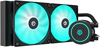 ID-COOLING AURAFLOW X 240 Snow CPU Water Cooler 12V RGB AIO Cooler 240mm CPU Liquid Cooler 2X120mm RGB Fan, Intel 115X/206...