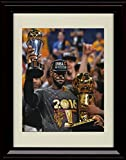 Framed Lebron James The King and The Trophies - Cleveland Cavaliers Champs Glossy Print