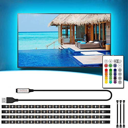 VOYOMO LED TV Hintergrundbeleuchtung 2M, Upgrade Version USB Beleuchtung LED Stripe mit 24-Key Fernbedienung für 40-60 Zoll TV-Bildschirm, PC, Spiegel und Küche Wohnzimmer Deko usw