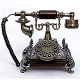 TAIDENG Clásico Europeo Retro teléfono Fijo Resina imitación Cobre Estilo Vintage...