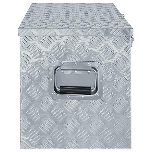 vidaXL Werkzeugbox Aluminium 110,5×38,5x40cm Alu Box Koffer Transportkiste - 2