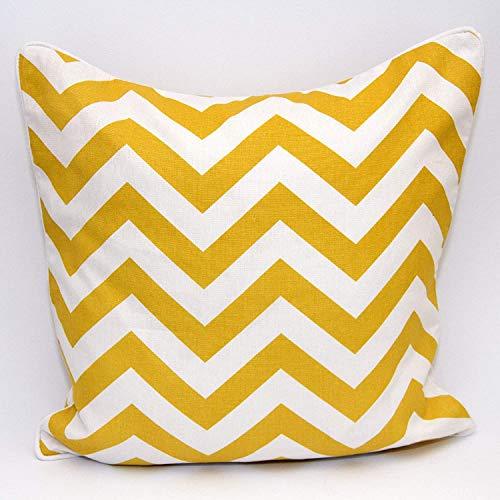 A&R 100% Cotton's Cushion Cover Design Chevron MUSTARD Size 18