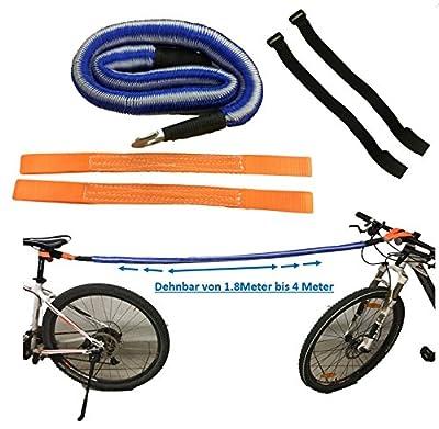 BikeZieherSet Fahrrad ABSCHLEPP-Set, zum Ziehen/Abschleppen von Fahrrädern, E-Bikes, Mountainbikes, Rennräder, Kinder-Rad, Räder, Elektro-Fahrrad – funktionierendes durchdachtes Rad Zubehör