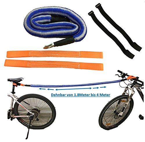 Fietsset voor het trekken/slepen van fietsen, e-bikes, mountainbikes, racefietsen, kinderfietsen, fietsen, elektrische fietsen - functionerende doordachte fietsaccessoires - beschermd