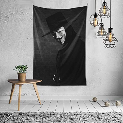 MikeyMillar Tapestry Large Wall Hanging V for Vendetta Hippie Tapestry Multipurpose Tapestries Wall Art Home Decorations for Living Room Bedroom Dorm Decor 60X40inch