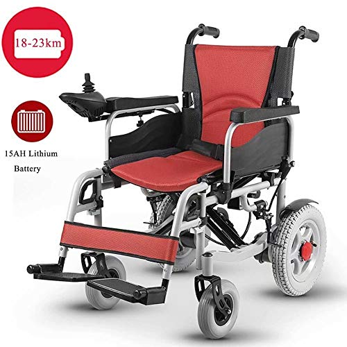Check Out This JAHQ fold up Electric Wheelchair, Transit Wheelchair Lightweight, 360° Joystick, Saf...