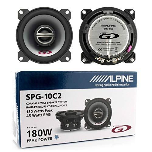 2 Lautsprecher kompatibel mit Alpine SPG-10C2 SPG 10C2 koaxial 2-Wege 10,00 cm 100 mm 4