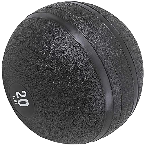 Max4out Slam Ball Medicine Balls, 20 lbs Dead Weight Balls for Crossfit, Strength and Conditioning Exercises, Cardio and Core Workouts