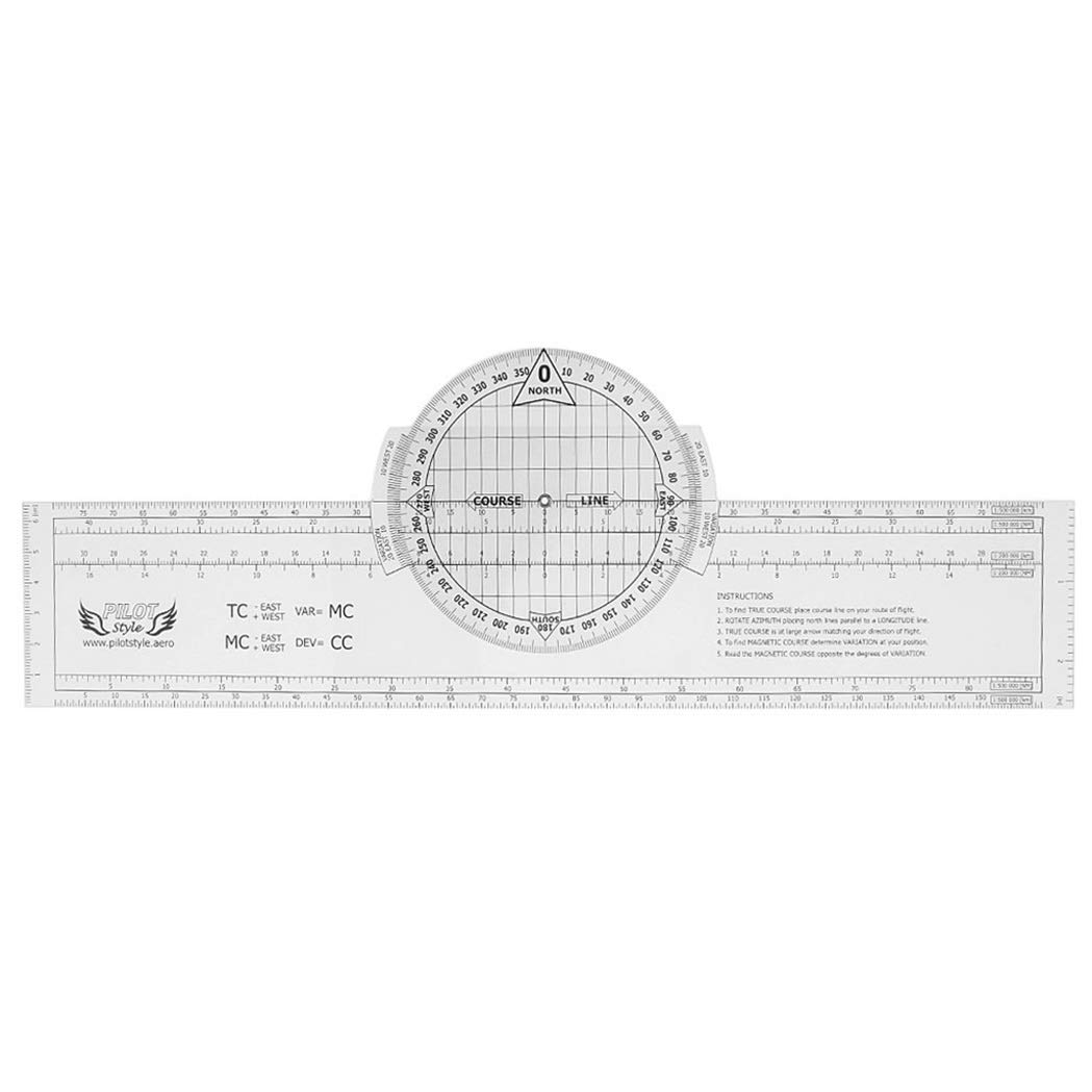 13.2 x 2.4 Pulgada Plotter de Vuelo Rotatorio de Plástico Carta ...