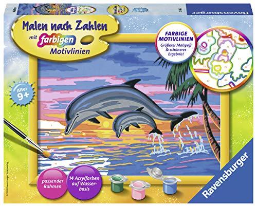 Ravensburger 27790 Paradies Der Delfine 27790-Paradies Malen nach Zahlen, Format 24 x 18 cm, Multicolor