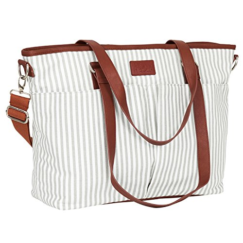 Diaper Bag by Hip Cub - Designer Messenger - W/Stylish Stripe Baby Changing Pad