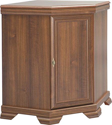 Furniture24 Eckkommode Kora KKN1 Kommode Eckschrank Schrank Wohnzimmerschrank mit 1 Tür (Samoa King)