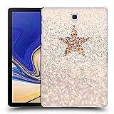Head Case Designs Oficial Monika Strigel Champán Glitter Star Pastel Carcasa rígida Compatible con Galaxy Tab S4 10.5 (2018)