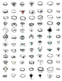 Milacolato 84 PCS Midi Ring Bohemian Knuckle Anello Set Fashion Finger Vintage Argento Anelli...
