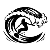 Tabla de surf de moda Deportes extremos Wave Surfing Mujer sexy Etiqueta de la pared Vinilo DIY Calcomanía Etiqueta engomada del coche Silueta Dormitorio GYM Club Decoración del hogar arte mural pós