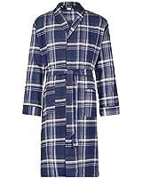 Bill Baileys Men's Long Sleeve Premium 100% Cotton Flannel Robe Lightweight Sleep & Morning Robe (Small/Medium, Big Plaid)