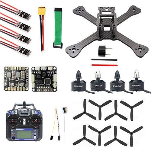 QWinOut TX5-210 210mm 2.4G RC Racer Mini Quadcopter Drone ARF SP F3 Caddx Turbo S1 Night Camera 5.8G VTX FPV Goggles Monitor (Combo 3)
