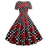 LEXUPE des années 50 Robe Vintage pour Mariage Tenue Femme Vintage Robe de pin up Robe Annee 80 Vintage Tenue Vintage ado Robe Style Vintage Robe Vintage année