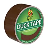 Duck 1304965 Color Duct Tape Brown, 1.88 Inches x 20 Yards, Single Roll