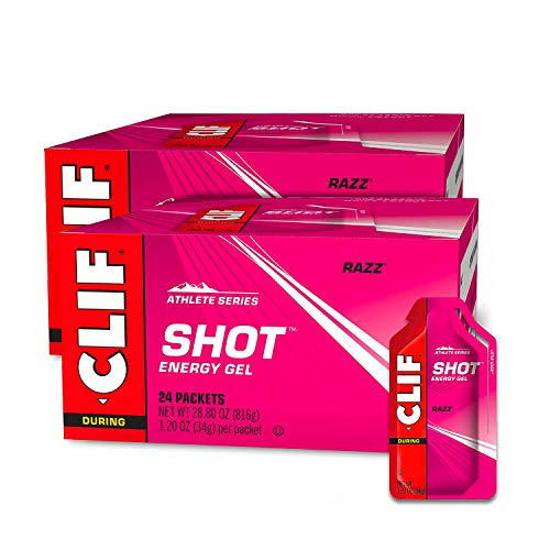 CLIF SHOT - Energy Gels - Razz - (1.2 Ounce Packet, 24 Count, 2-Pack)