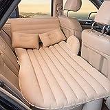Beflockung Kopf-Block-Luft-Bett-Auto-Spielraum-Bett Aufblasbare Kissen, Beflockung Lathe Car Interior Produkte Multifunktionskopf Block Travel Air Mattress,Beige