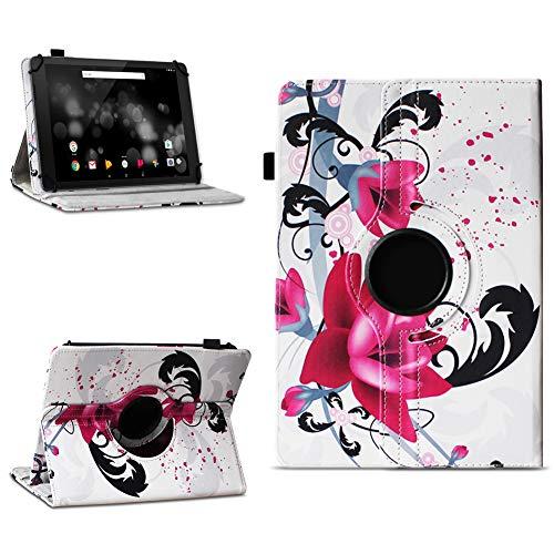 NAmobile Schutzhülle kompatibel für TrekStor Primetab P10 Tablet Hülle Tasche Hülle Cover 360 Drehbar, Farben:Motiv 7
