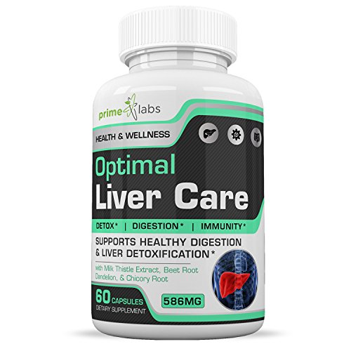 Optimal Liver Care Liver Cleanse Pills That Work - Natural Detox and Digestion Aid with Milk Thistle Extract, Beet Root, Dandelion, Chicory Root - Rid Your...