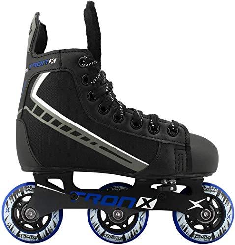 TronX Velocity Youth Children's Adjustable Inline Roller Hockey Skates Size 7-10