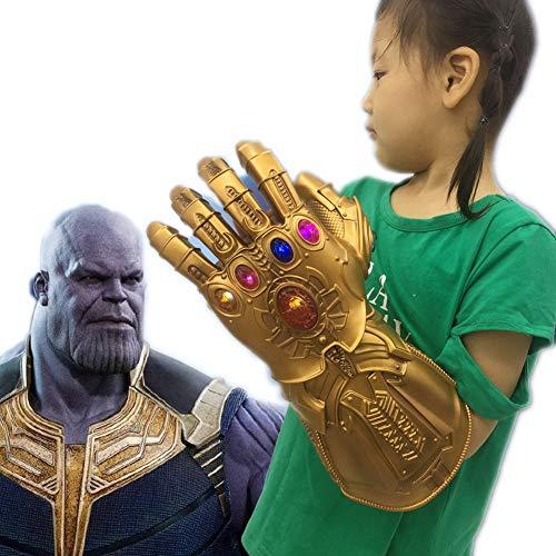 HOOLAZA Cosplay Thanos Gant Or PVC avec 6 LED Étincelant Halloween Party Props Infinity Gant Gant pour Enfants