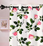 Polyster 3D Flower Printed Curtain For Windows