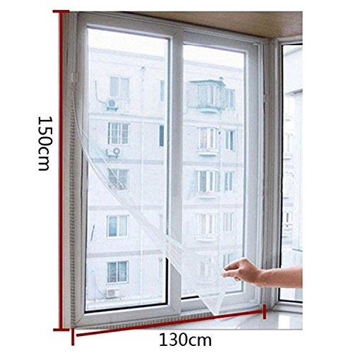Cortina mosquitero de red de alambre, para puerta, ventana, para insectos voladores, blanco