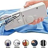 LKNJLL Máquina de coser portátil, herramienta de coser Mini Profesional Inalámbrico de costura eléctrico Handheld del hogar - Herramienta puntada rápida for tela, ropa, o niños paño recorrido del hoga