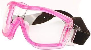 عینک ایمنی ، عینک محافظتی ضد انعطاف پذیر ضد UV400 & عینک محافظ مهر و موم شده مقاوم در برابر خراش چشم و عینک محافظ مهر و موم شده بر روی عینک برای DIY ، آزمایشگاه ، جوشکاری ، سنگ زنی ، دوچرخه سواری (قاب صورتی)