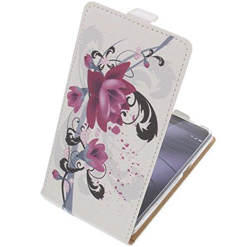 foto-kontor Tasche für Gigaset Me Pro Flipstyle Schutz Hülle Handytasche Lotus Blüte