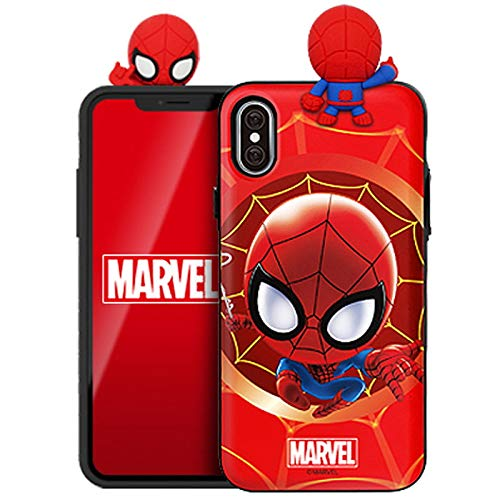Figure Mirror Card Case with Avengers Character for Samsung Galaxy S10+ Plus (Spider Man)