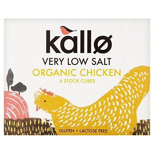 Kallo Organic Very Low Salt Chicken Complete Free Shipping Stock Max 73% OFF - x Cubes 8g 6
